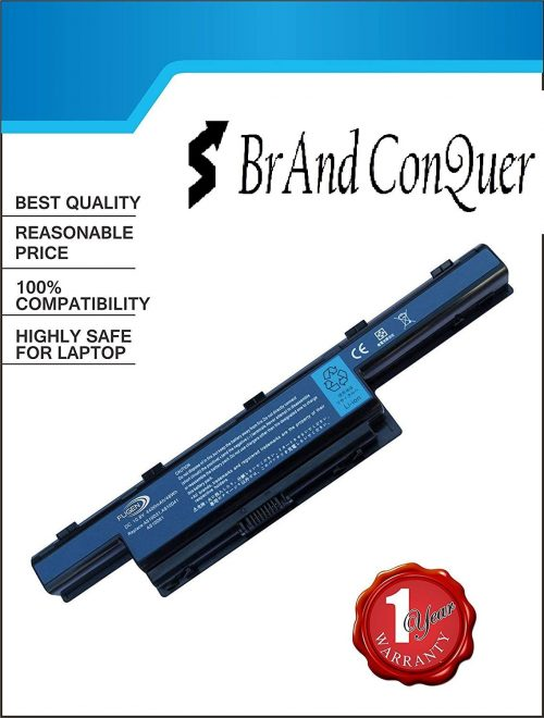Brand Conquer Laptop Battery for Acer Aspire 4560 4625 4750G 4752G 4752Z 4738 4738Z 4741 4741G 4741Z 5250 5251 5152 5750 5755 Series - 1 Year Warranty