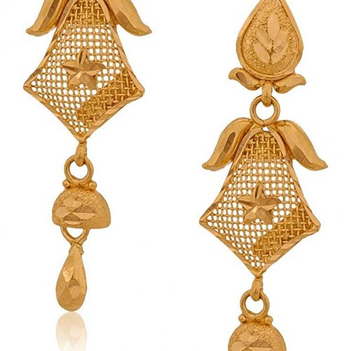 Senco Gold 22k Yellow Gold Drop Earrings for Women